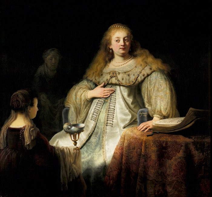 Judith at the Banquet of Holofernes (previously known as Artemisia) REMBRANDT - Copyright © Museo Nacional del Prado