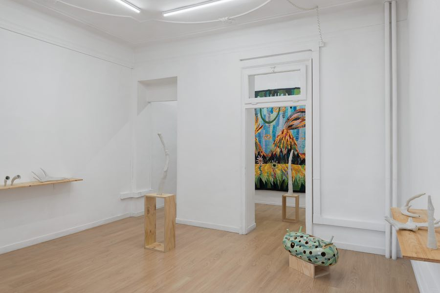 Matteo Nasini, Neolithic Sunshine - Installation view - Photo Marco Davolio - Courtesy Clima, Milano