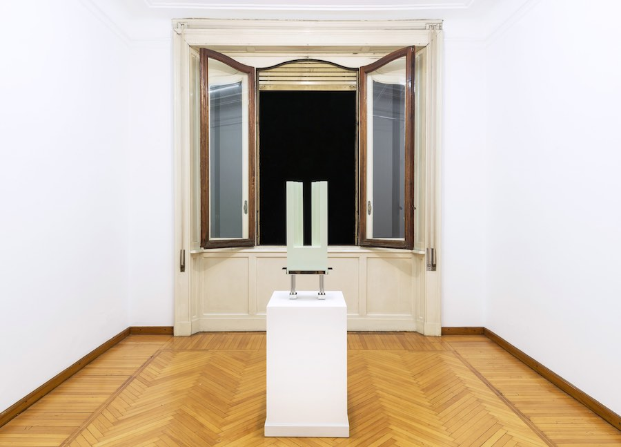 Giovanni Riggio, Sileno; installation view, Amaretto, Villa Vertua Masolo. Photo credit Cosimo Filippini