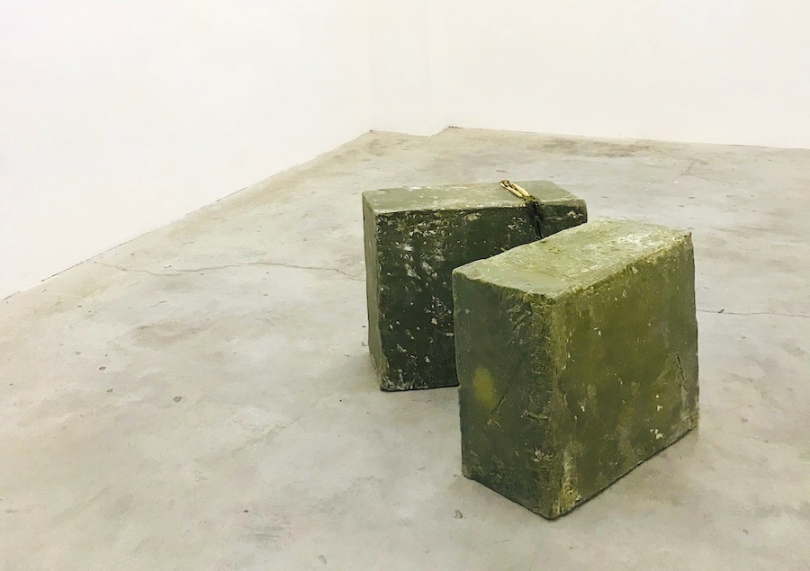 Giovanni Kronenberg, Untitled, 2018, Marseille soap carved with blade heated by blowtorch, cm 42 x 38 x 20, Localedue, Bologna