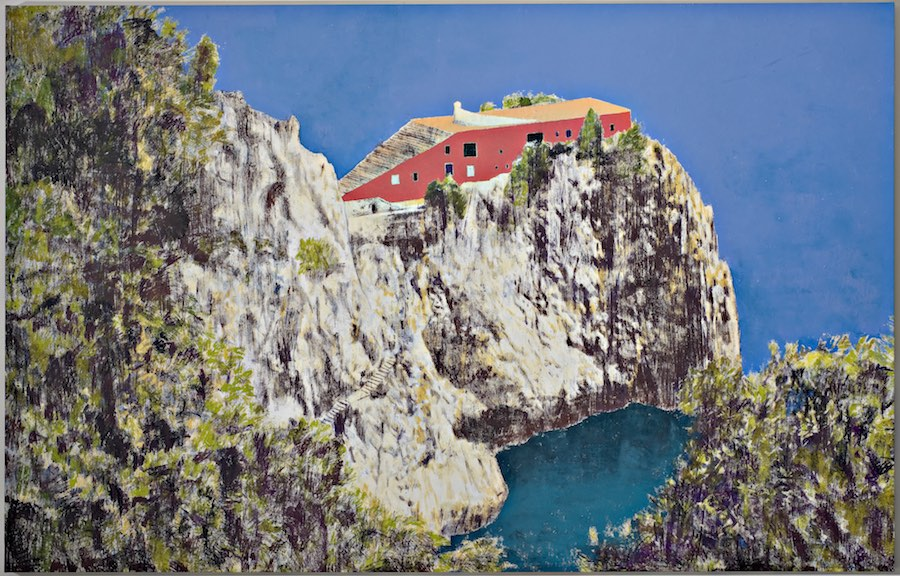 Enoc Perez Casa Malaparte (Day), 2008 oil on canvas 234 x 366 cm © the artist Ph. Carlo Vannini