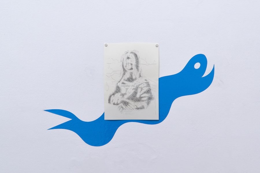 Giulio Scalisi, graphite on paper, stencil, 2019. Ph. Like a Little Disaster