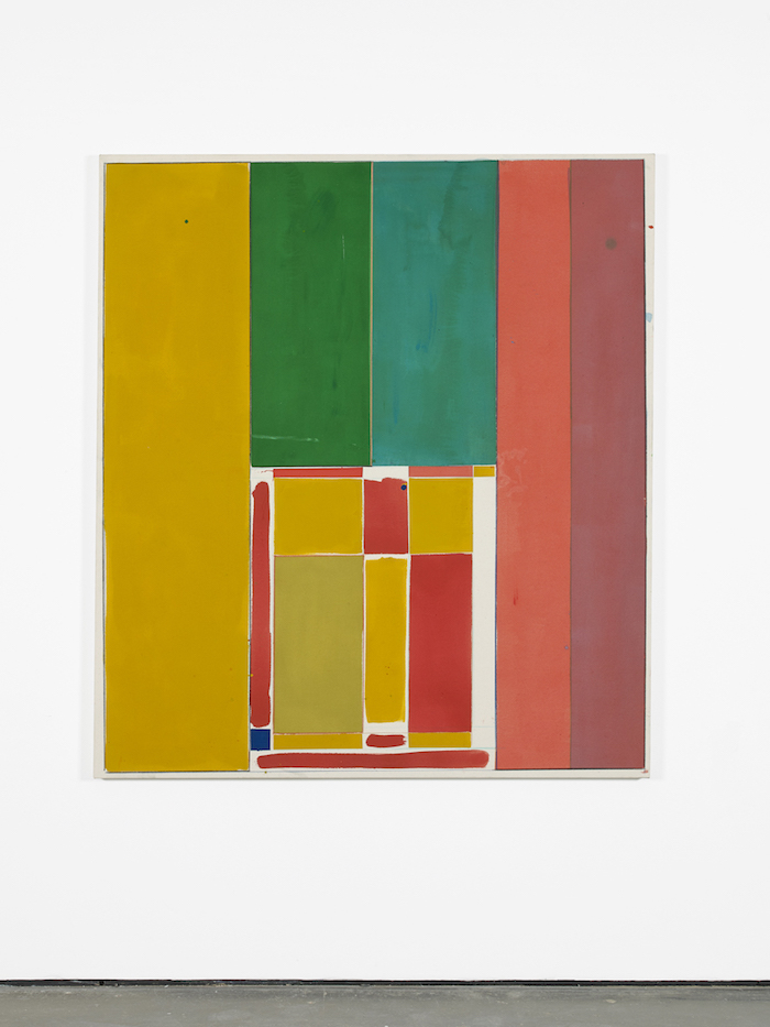 Matt Connors, Androne 2019 Acrylic and crayon on canvas 155.5 × 137.5 × 3.5 cm 61.2 x 54.1 x 1.4 in Courtesy: Herald St, London