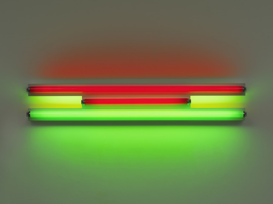 Dan Flavin, Untitled, 1995. Estate of Dan Flavin - Artists Rights Society (ARS), New York. Courtesy of David Zwirner & Cardu Gallery
