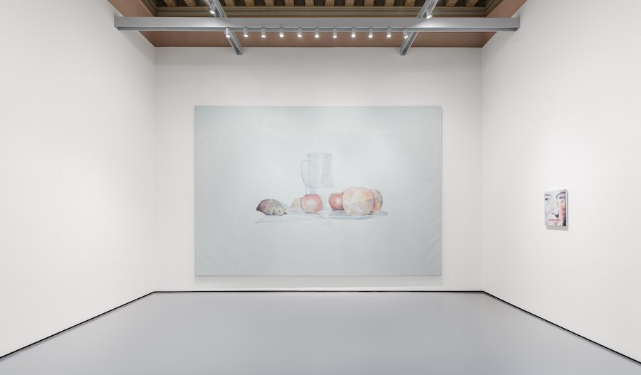 (from left to right) Luc Tuymans, Still Life, 2002, Pinault Collection, William Robertson, 2014, The Broad Art Foundation. Installation View at Palazzo Grassi, 2019 © Palazzo Grassi, Photography by Delfino Sisto Legnani e Marco Cappelletti.