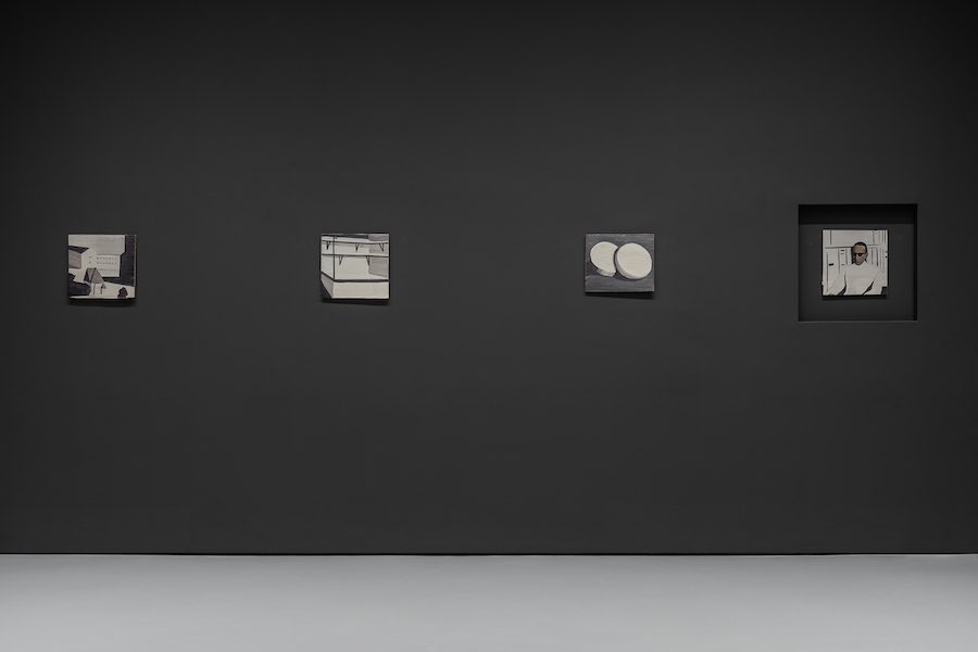 Luc Tuymans, Die Zeit, 1988, Private collection. Installation View at Palazzo Grassi, 2019 © Palazzo Grassi, Photography by Delfino Sisto Legnani e Marco Cappelletti.