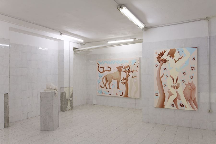 Viola Leddi, Creature adorabili, 2019, exhibition view. Courtesy Tile project space and the artist. Ph. siliqoon agency.