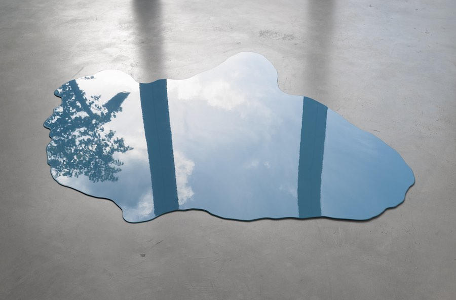 Alexander Gutke, Big Sky Blue, 2016  Metal, paint Variable Dimensions  Unique  Courtesy Gregor Podnar, Berlino