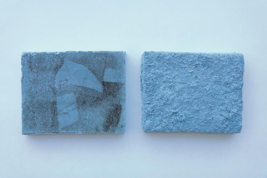 Giacomo Segantin, spellbound, tecnica mista su supporto di carta riciclata, 40 x 25 x 5 cm, 2017