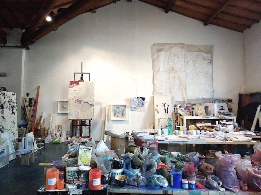 Nello studio di Franco Guerzoni